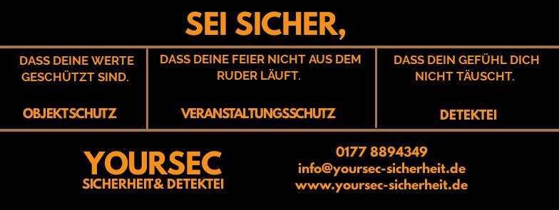 Logo der YourSec Sicherheit& Detektei