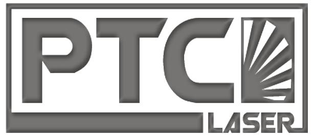 Logo der PTC Laser