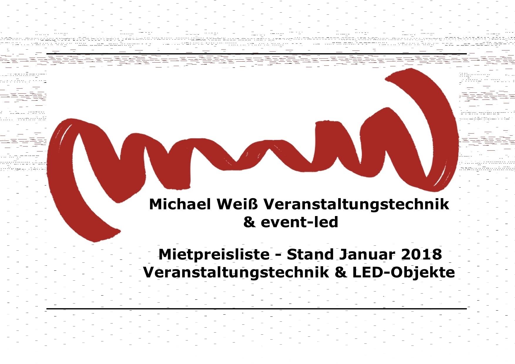 Logo der Michael Weiß Veranstaltungstechnik & event-led